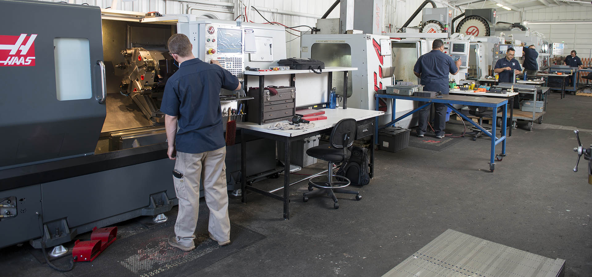 Men in Haas Workshop