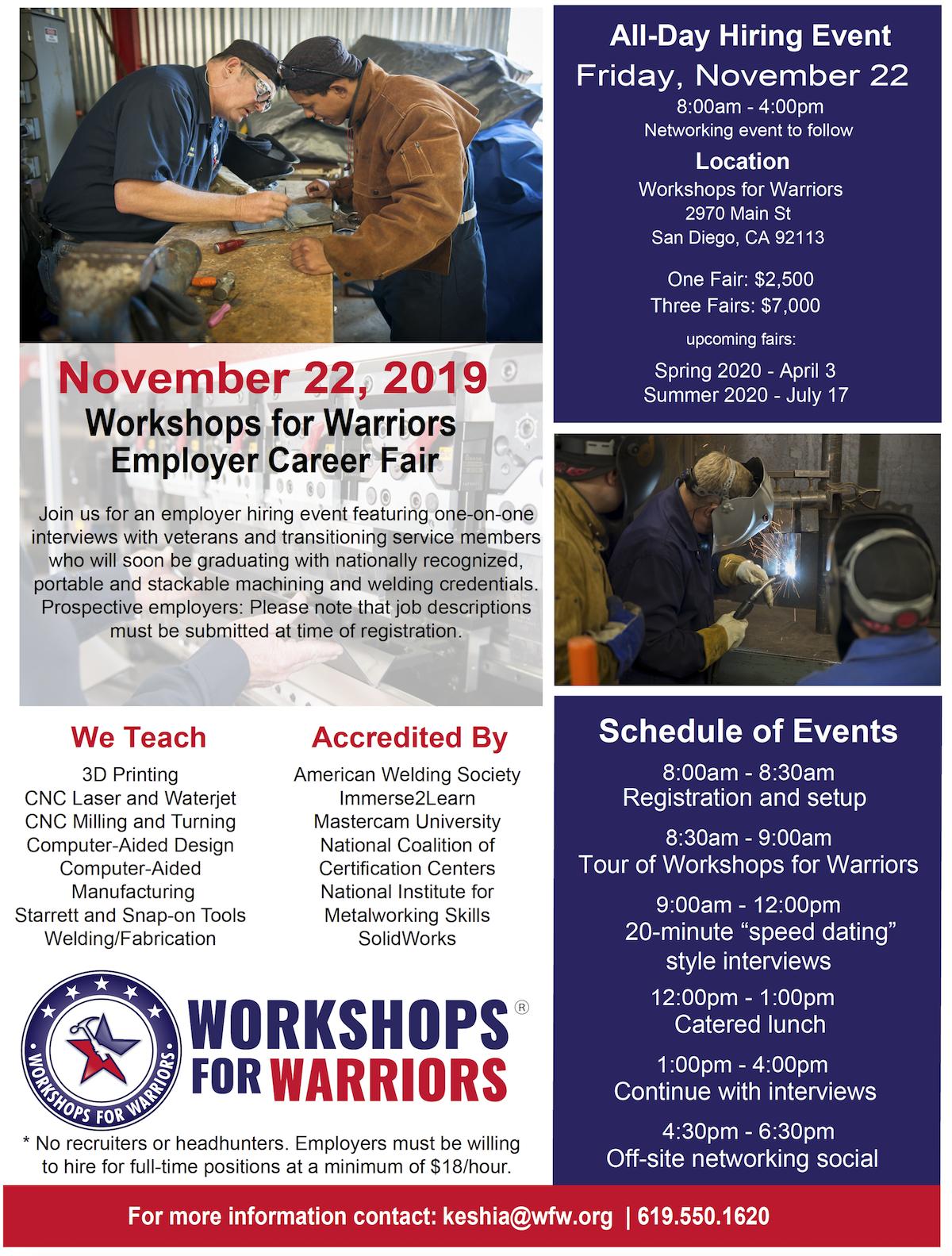 Employer Career Fair – Workshops For Warriors