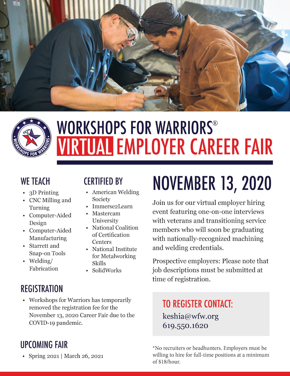 WFW Employer Career Fair Spring 2021