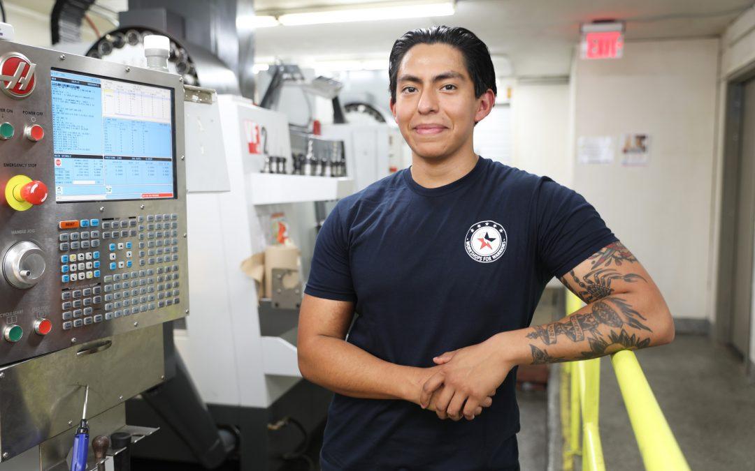 Miguel, Navy Veteran, Machining Graduate