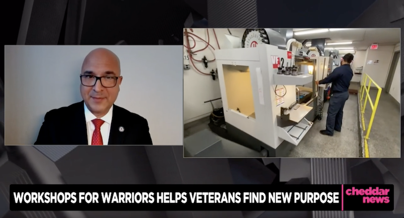 Cheddar: Workshops for Warriors Trains Veterans in Manufacturing Jobs